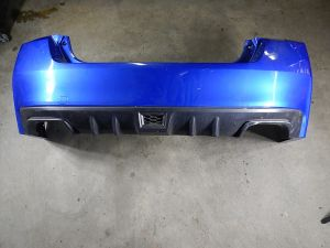 15+ Subaru WRX Sedan Blue Rear Bumper Cover VA NIQ Damaged OEM