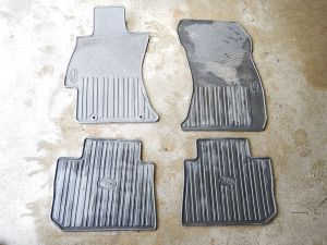 14-16 Subaru VA WRX Rubber Floor Mats Front & Rear Sedan OEM