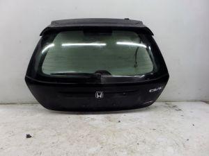 Honda Civic SiR Rear Hatchback Hatch Black EP3 02-05 OEM w/ Spoiler