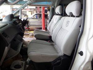 Mitsubishi Delica L400 Chamonix White Cloth Seats 96-07 RHD JDM OEM