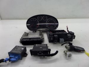 Audi A3 Key Set 2.0T FSI 300K KMS KPH Cluster Ignition Door Lock 8P 06-08 OEM
